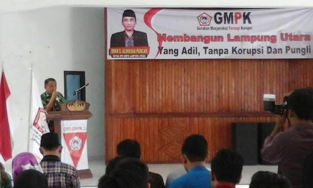 GMPK Lampung Utara  Gelar Pendidikan Duta Anti Korupsi