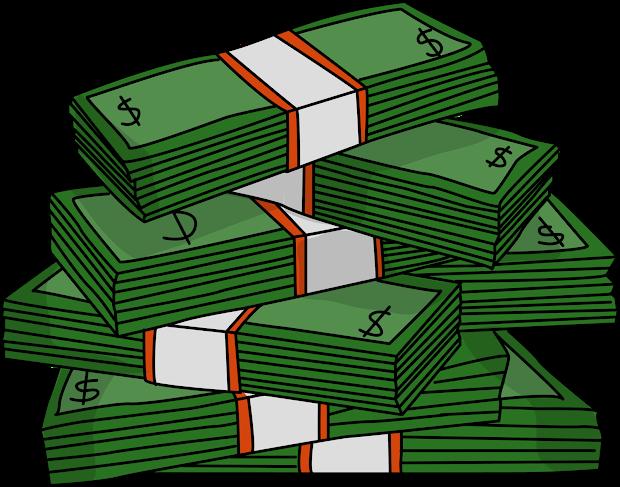 money black and white clip art