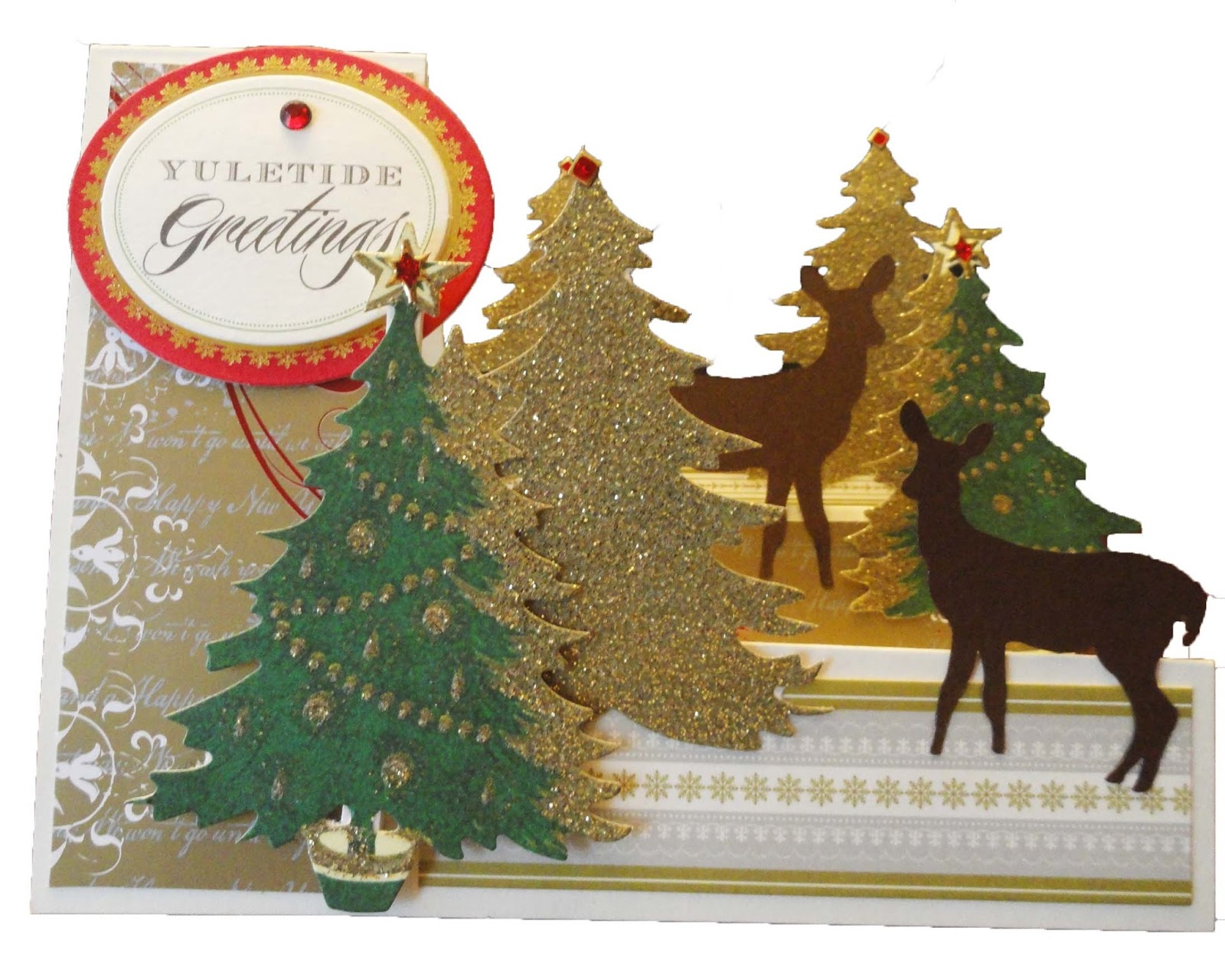 Anna Griffin Christmas Cards.Crafting Memories With Molly Easy How To Christmas Step Cards