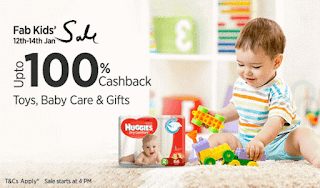 (Live at 4 PM) Paytm Fab Kids Sale - Get 100% Cashback on Toys, Baby Care & Gifts Products