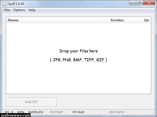 i2pdf 1.0.46 免安裝版 - 圖片轉PDF檔 - 阿榮福利味 - 免費軟體下載