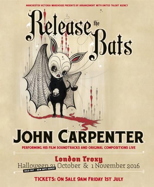 John Carpenter Release The Bats Live Gig in London