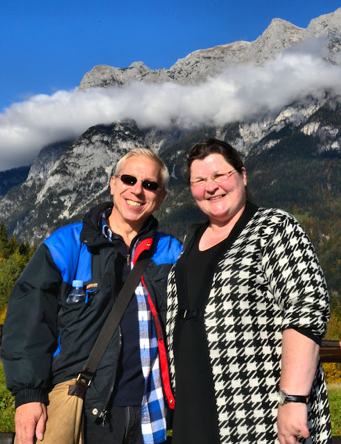Adieu, adieu, to you, and you,and you! Pictured here with my virtual friend whom I finally had the chance to meet face to face on this trip - Monika of TravelWorldOnline.de. Truly, she was one of the highlights of my journey to Salzburg, Austria!