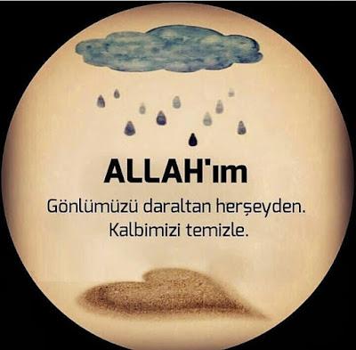 Allahım gönlümüzü daraltan her şeyden kalbimizi temizle, amin, dua, bulut, kalp, yağmur