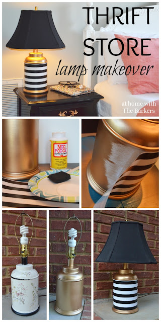 Updated thrift store table lamp