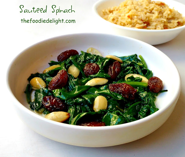 sauteed-spinach-with-almond-and-raisins