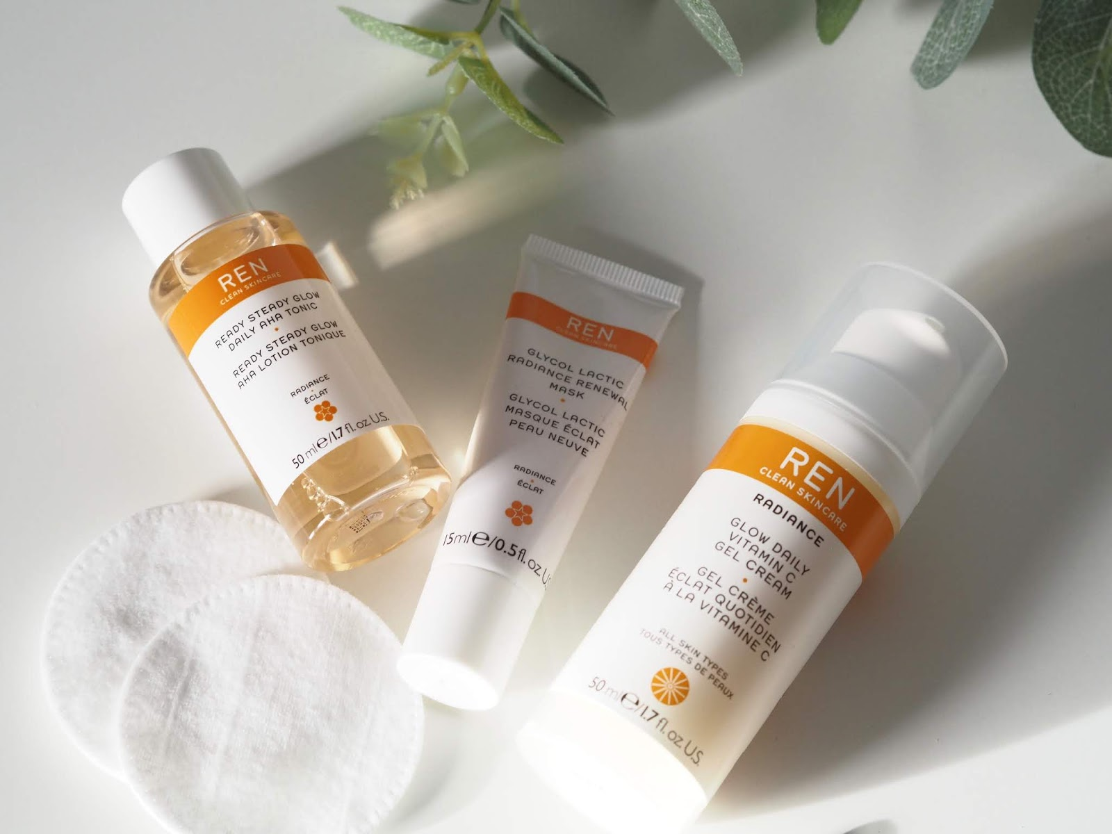 REN radiance trio of skincare