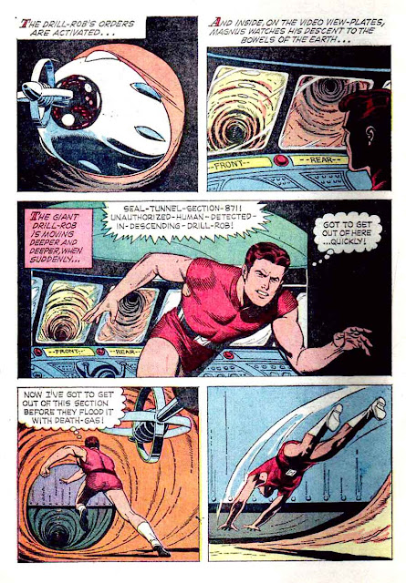 Magnus Robot Fighter v1 #6 gold key silver age 1960s comic book page art by Russ Manning