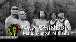 Lirik Lagu Rwa Bhineda Made Gimbal n Band