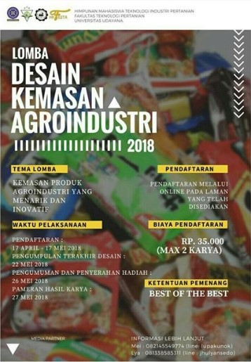 Lomba Fotografi & Desain Kemasan Umum 2018 UD