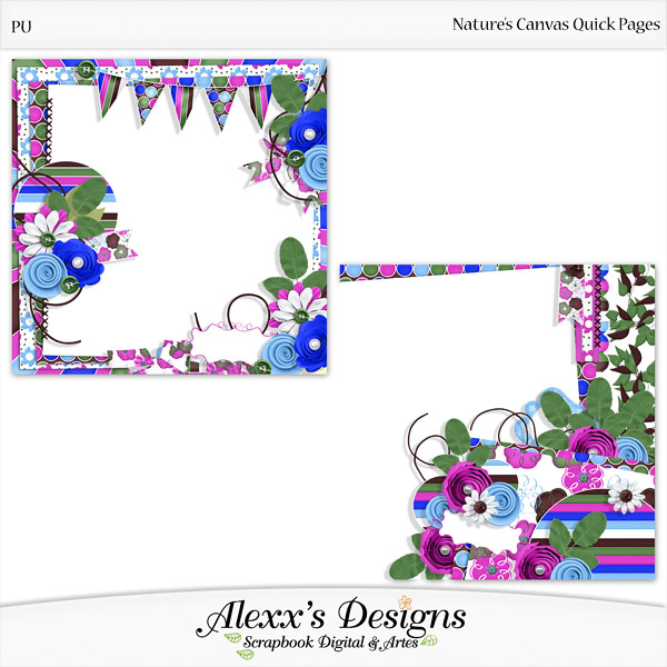 Release Nature s Canvas Kit Quick Pages Alphas and Timeline by Alexx s Designs