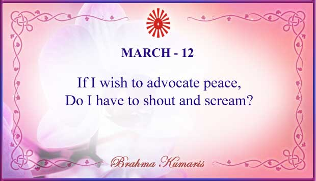 Thought For The Day March 12