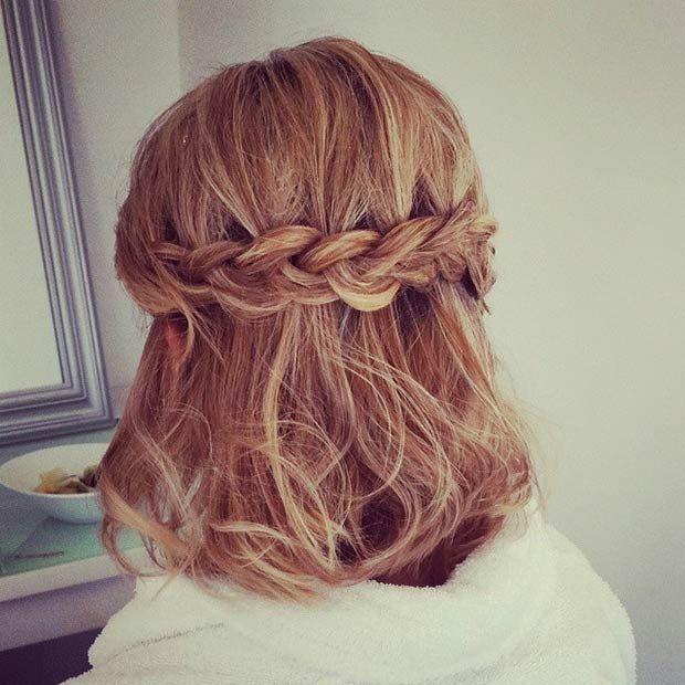 Cute Braided Hairstyles For Short Hair Easy Braid Haristyles
