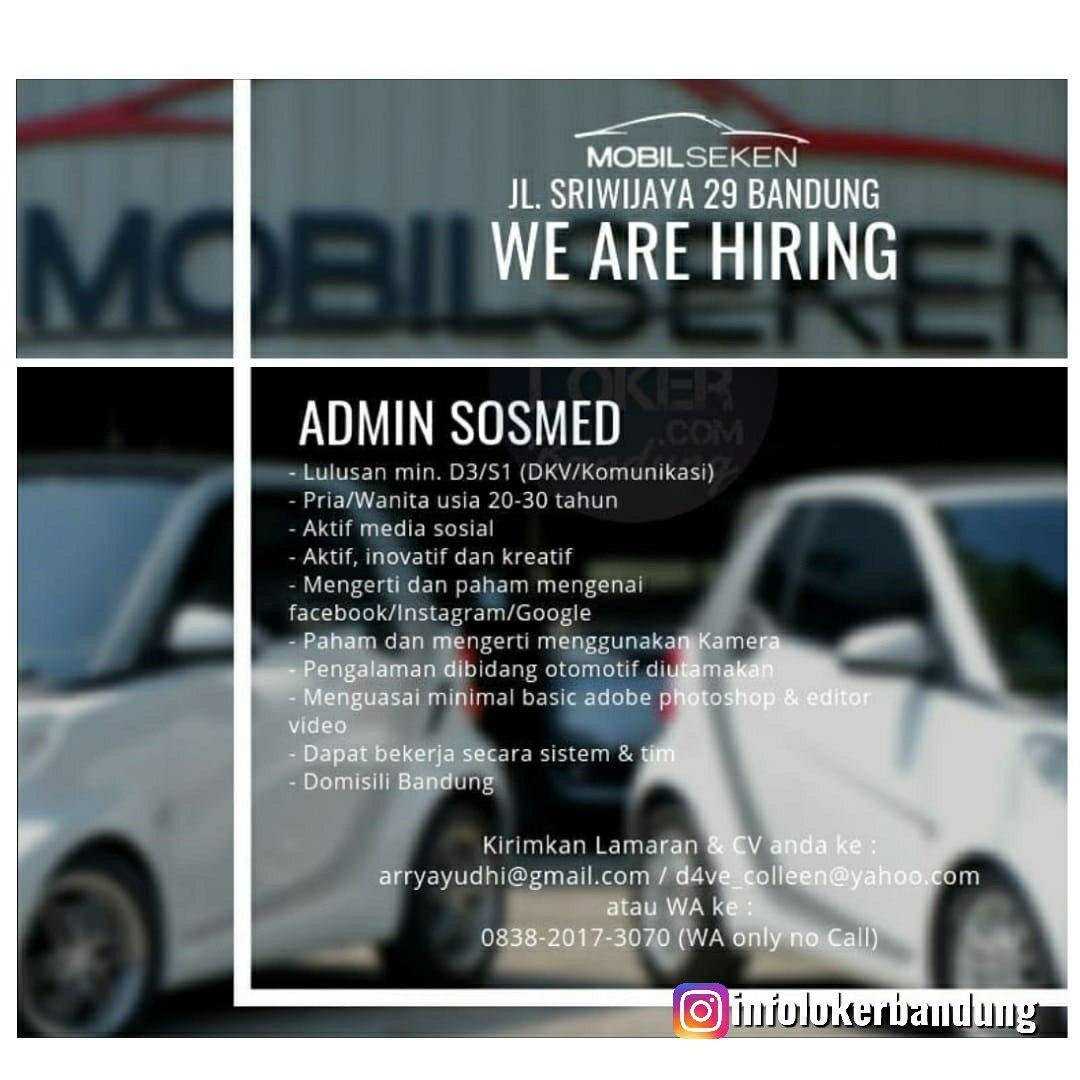 Lowongan Kerja Admin Sosmed Mobil Seken Bandung April 2019