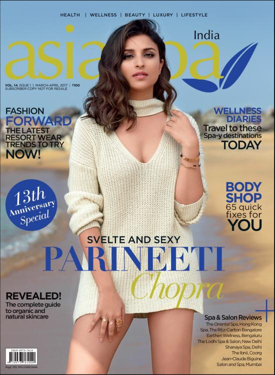 Parineeti Chopra Photoshoot for Asia Spa India Magazine March-April 2017