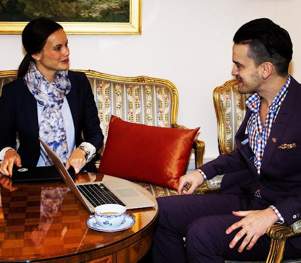 Princess Sofia Hellqvist of Sweden met with Admir Lukacevic, founder and head of Sweden's Sports Without Borders