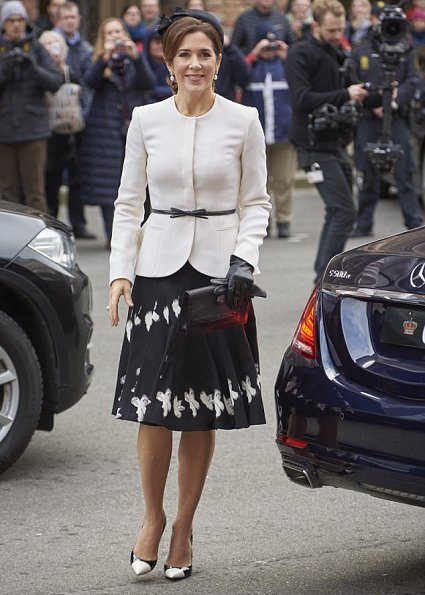 Princess Mary wore Gianvito Rossi shoes, Quidam Alligator Clutch, Princess Marie wore Chanel skirt