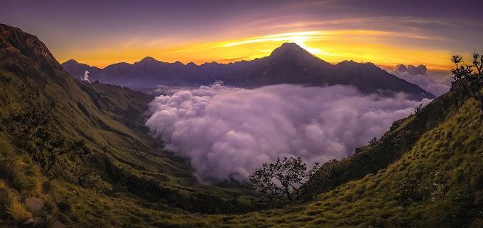 Trekking Mount Rinjani package 2 days 1 night start climb from Sembalun