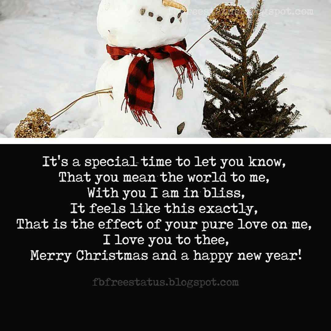 Merry Christmas Love Quotes, Greeting, Messages