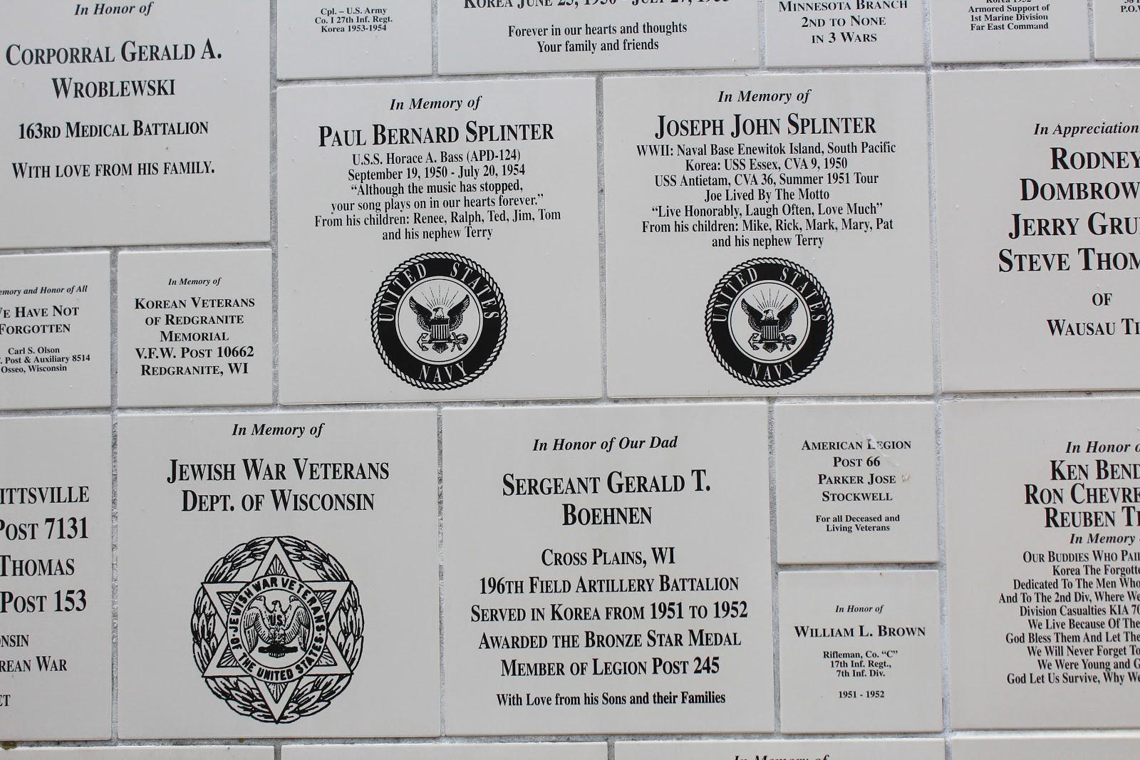 Wisconsin Historical Markers Wisconsin Korean War