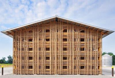 Increíble arquitectura con bamboo