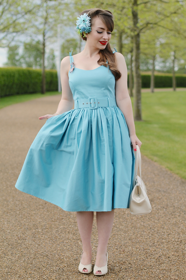 Collectif Jade dress in baby blue review
