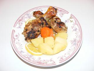 retete grill pui, mancare, friptura de pui cu legume si ciuperci,