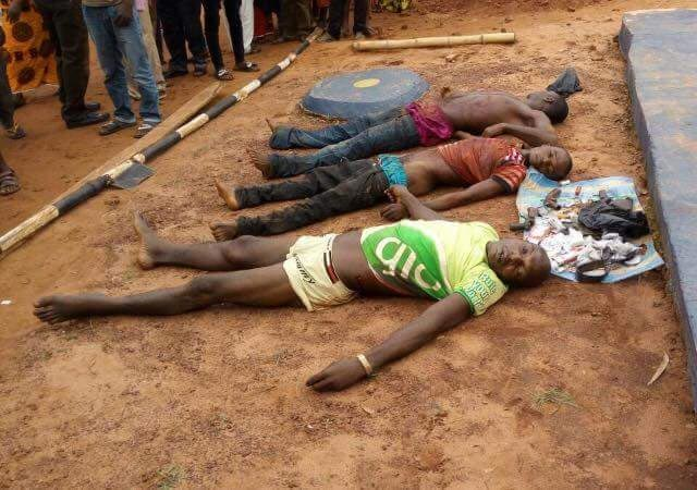 Photo: Kidnappers killed by security vigilante in Kogi State
