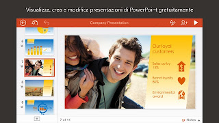 Microsoft PowerPoint gratis per iPad, iPhone e iPod Touch vers 1.11