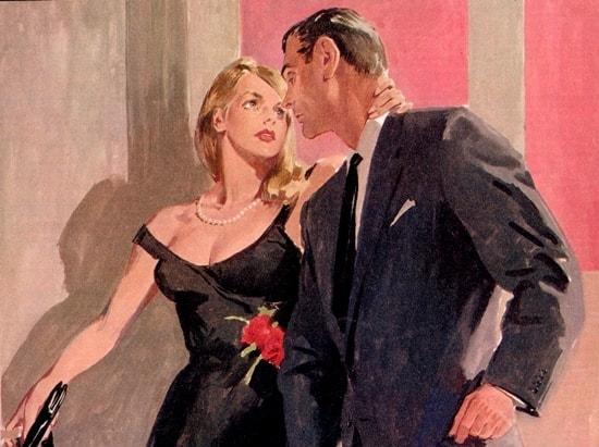 James Bond in una illustrazione dalla Domenica del Corriere (1965)