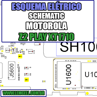 Esquema Elétrico Motorola Moto Z2 PLAY XT1710 Celular Smartphone Manual de Serviço - schematic service manual