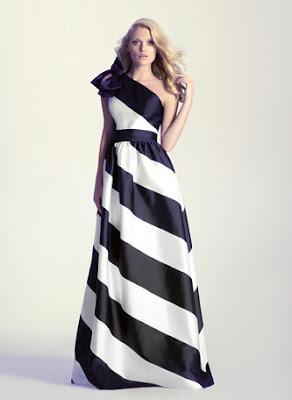 vestido blanco y negro invitada largo