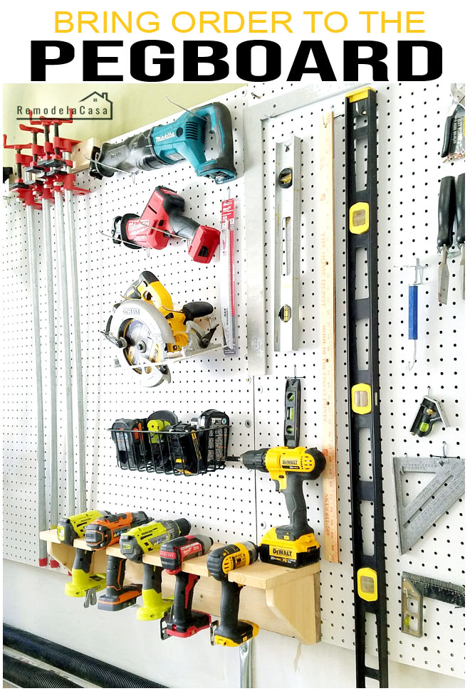 tools in pegboard