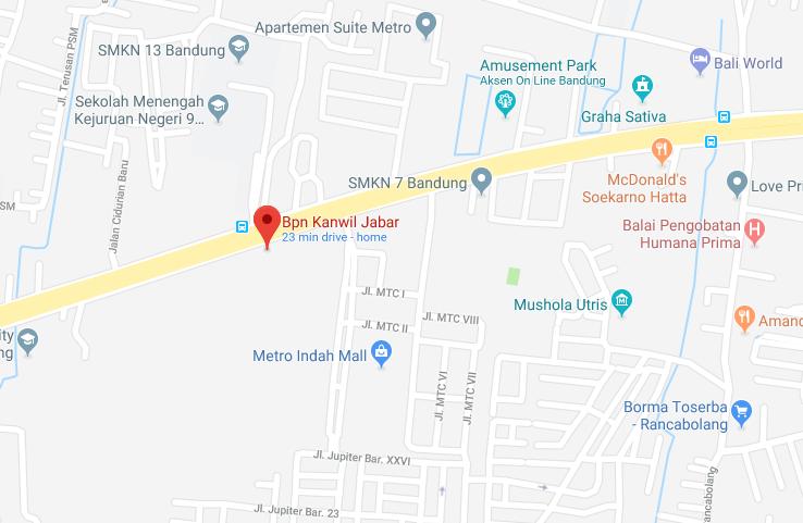 alamat BPN/ATR kota bandung