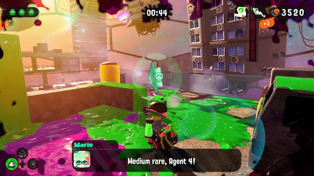 Splatoon 2 Octo Canyon story mode Octoling medium rare Agent 4 Parking Garage Marie