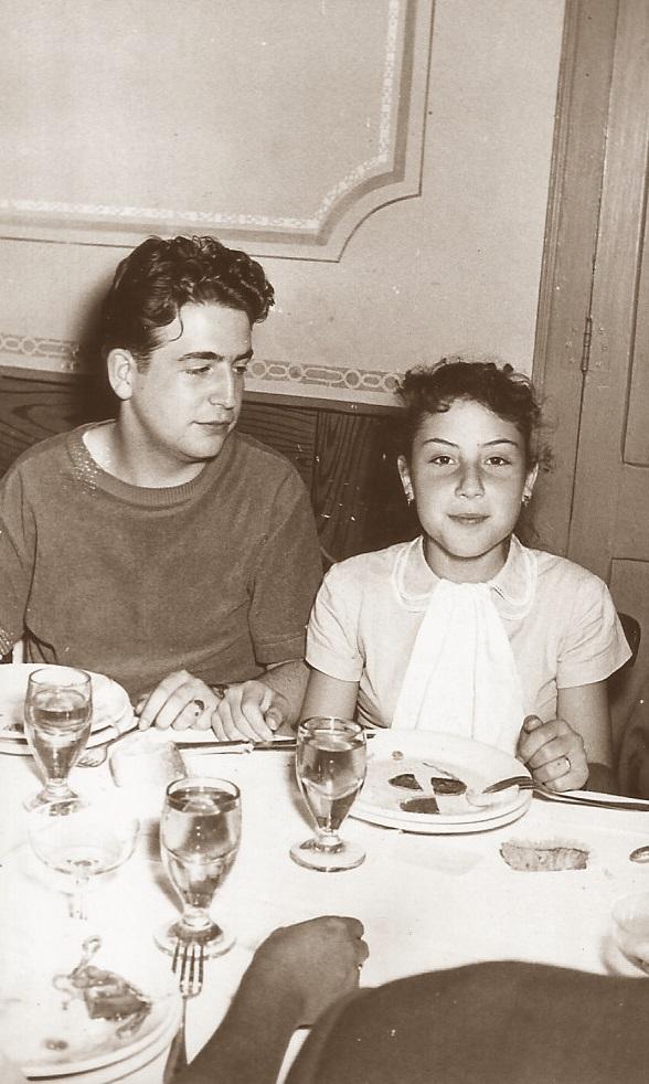 Lucien Francino y Marina Ribera en 1957