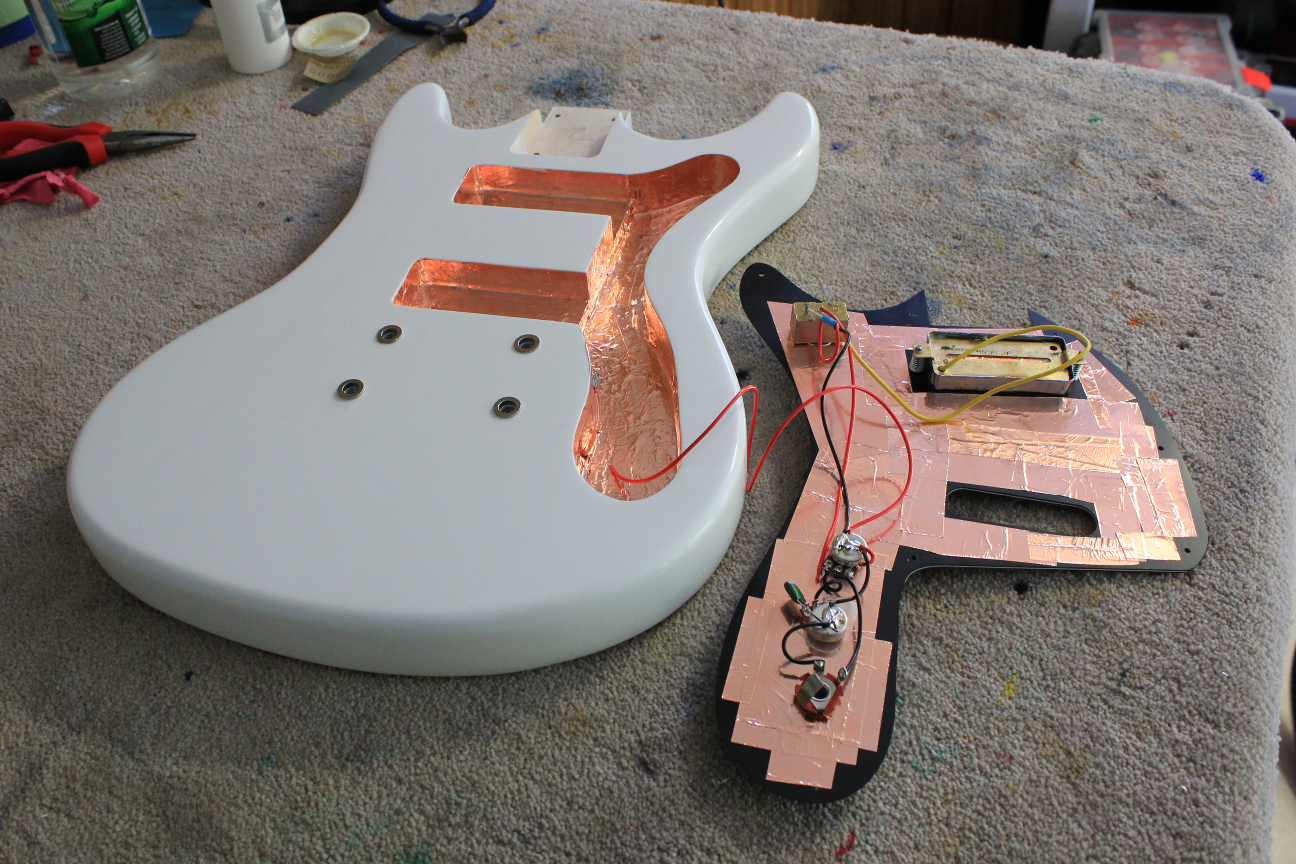 in no time i had the neck pickup wired in and could do a tap test to check the volume and tone circuits  [ 1296 x 864 Pixel ]