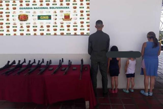 Detienen a un Sargento Mayor con sus hijos de 7 y 4 años por vender el arma para comer