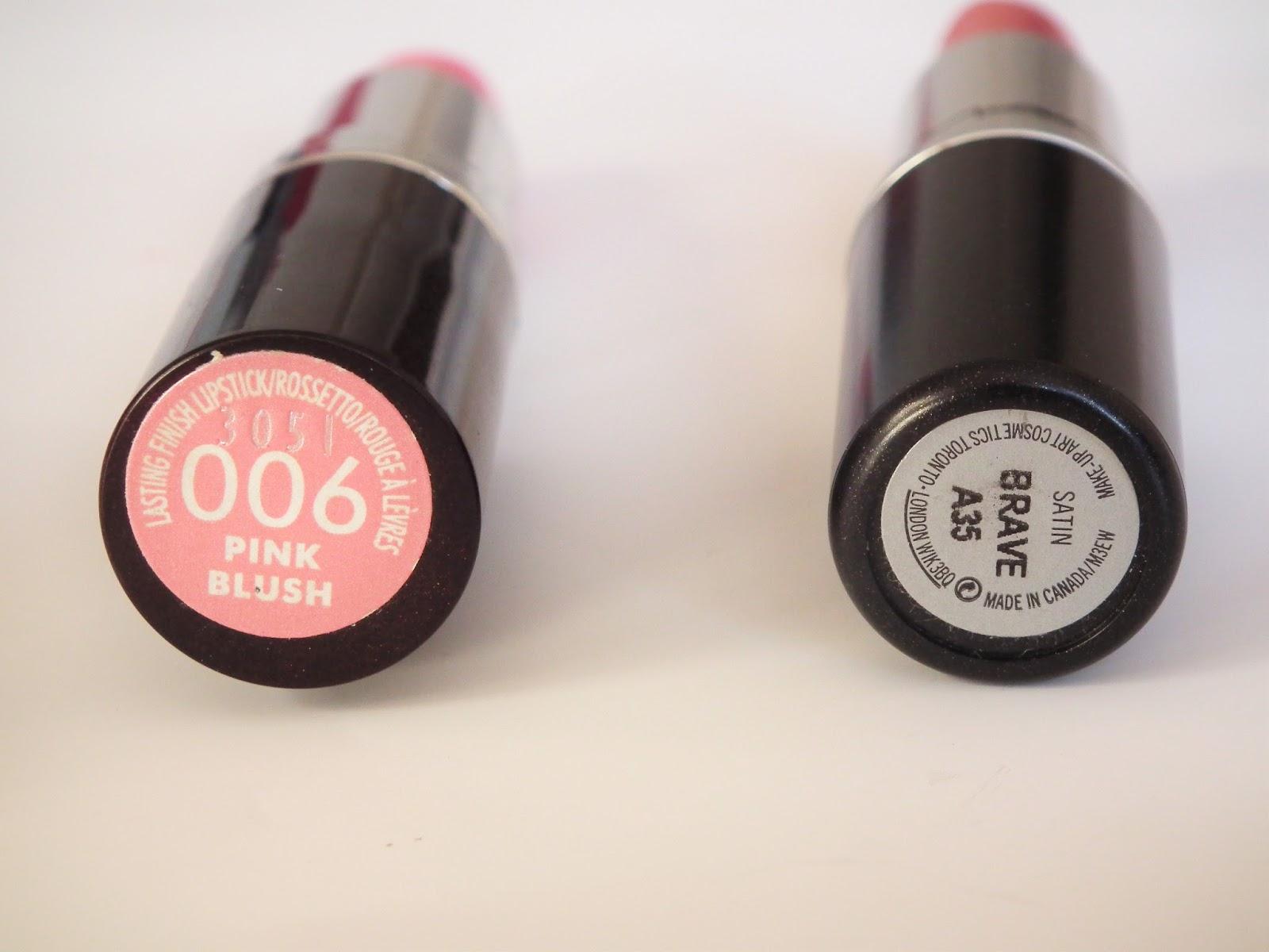 Spring Go To Lipsticks Rimmel Pink Blush Mac Brave