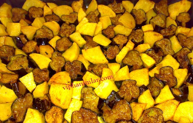 Patatesli Patlıcanlı Oturtma
