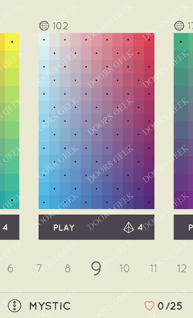 I Love Hue Mystic Level 9 Solution, Cheats, Walkthrough