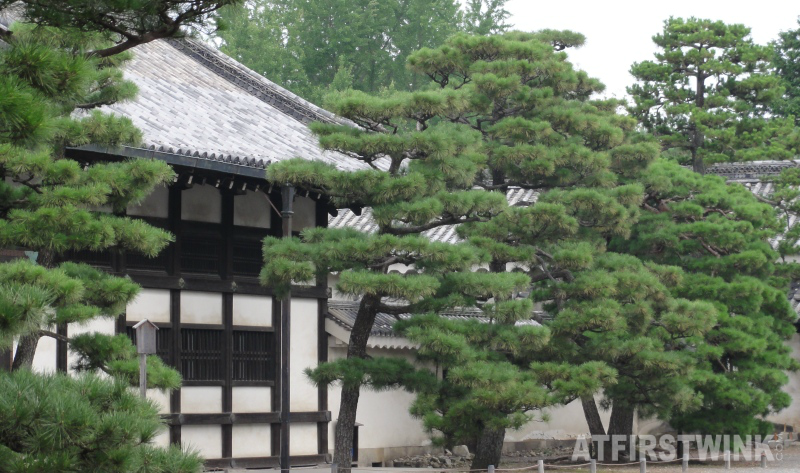 Nijo castle Kyoto Japan kitchen building close up