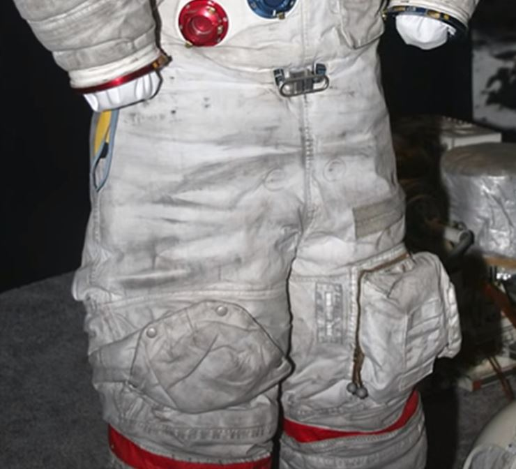 Lunar ust on a spacesuit.