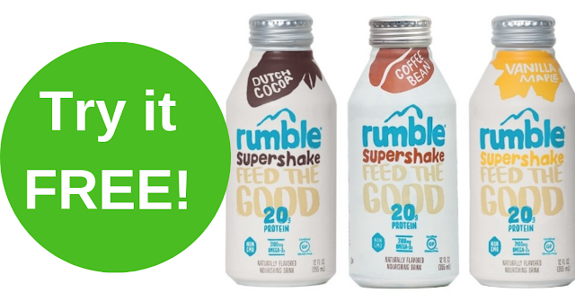 Try a FREE Rumble Protein Supershake