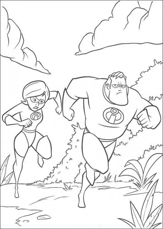 Fun Coloring Pages: The Incredibles Coloring Pages