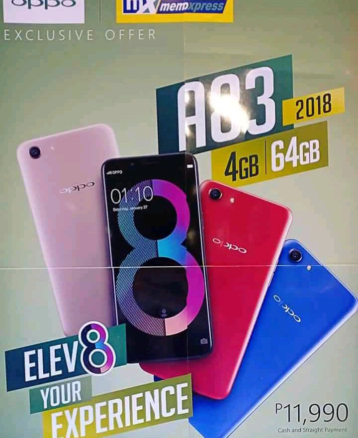 OPPO A83 2018 Surfaced in PH, Has 4 GB RAM Inside!
