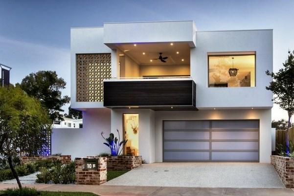 Fachadas de casas peque as de dos pisos for Disenos de fachadas de casas de dos pisos