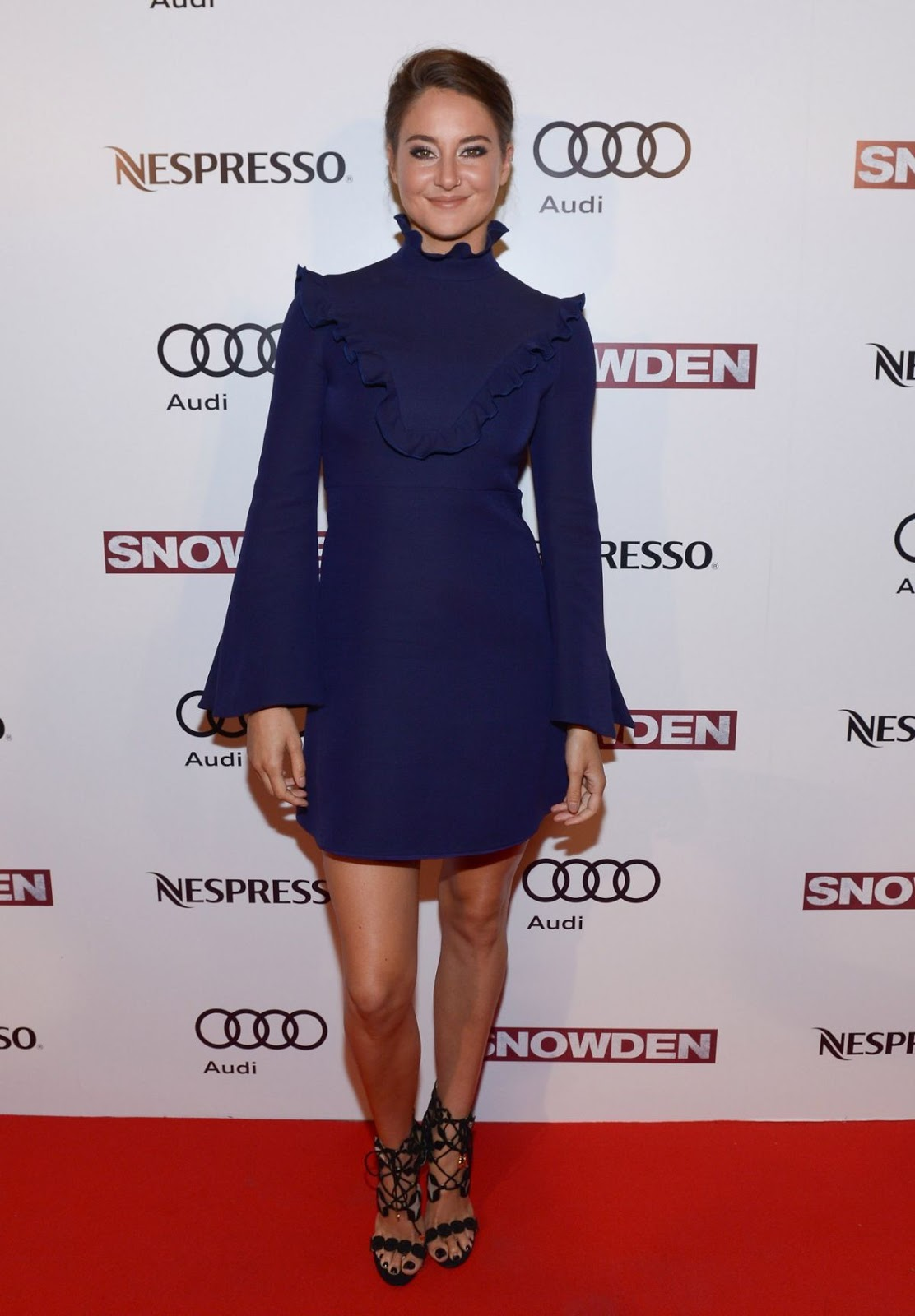 HD Images Shailene Woodley in Blue dress At Snowden Preparty In Toronto