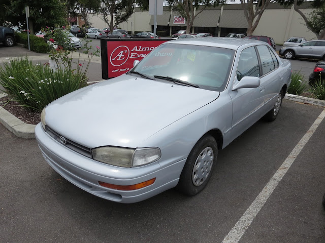 1995 Toyota Camry after collision repairs & color change at Almost Everything Auto Body
