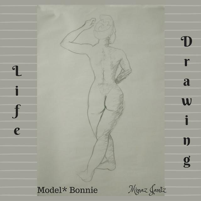 Nude Drawings by Minaz Jantz. Model Bonnie